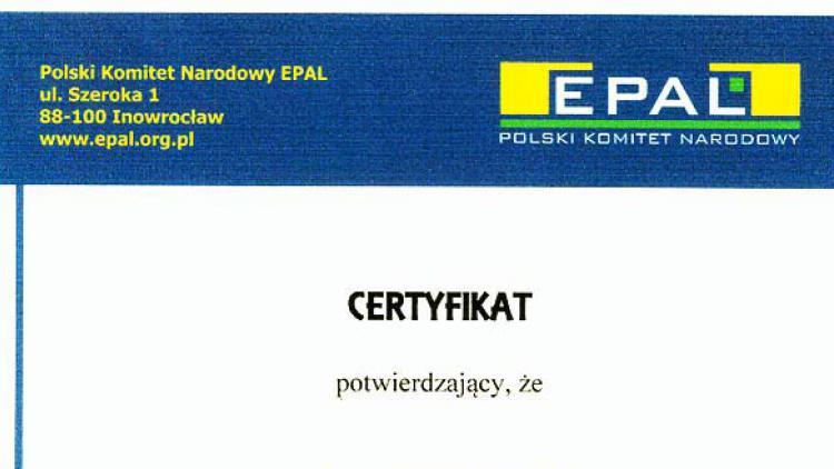 Certyfikat EPAL
